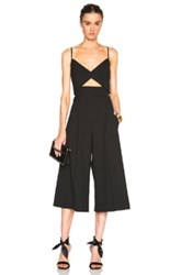 Mason By Michelle Mason Bustier Jumpsuit In Black