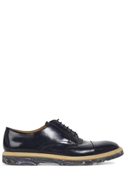 Paul Smith Thom Navy Leather Derby Shoes