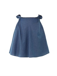 Julien David Paper Bag Waist Denim Skirt