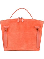 Jil Sander Small 'Hill' Tote Yellow And Orange