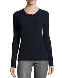 Michael Kors Long Sleeve Button Front Henley Top Forest