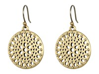 Lucky Brand Two Tone Openwork Drop Earrings Gold Earring
