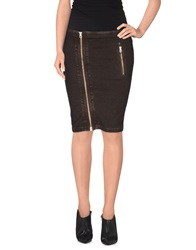 Rare Ra Re Knee Length Skirts Dark Brown