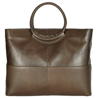 John Lewis Kin By Fia Leather Tote Bag Olive