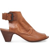 Marsell Cone Leather Mule Slingback Boots Mid Brown