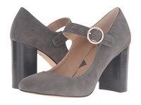 Adrienne Vittadini Goalie Dark Grey Kidsuede High Heels Gray