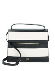 Vince Camuto Aster Striped Leather Satchel Oxford