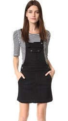 7 For All Mankind Overall Dress Black Sands Broken Twill 2