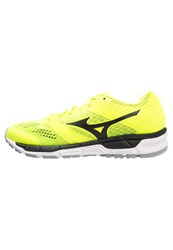 Mizuno Synchro Mx Cushioned Running Shoes Safety Yellow Black Silver