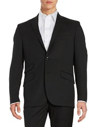 Kenneth Cole Wool Blend Two Button Jacket Black