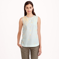 J.Crew Petite Scattered Floral Sequin Shell