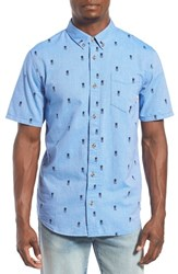 Men's Vans 'Houser' Short Sleeve Print Oxford Shirt