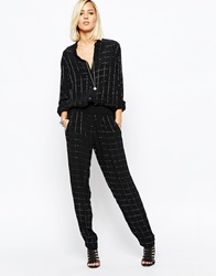 Religion Fortune Trousers With All Over Beading Co Ord Black
