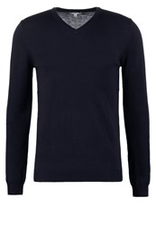 Reiss Emporer Jumper Navy Dark Blue