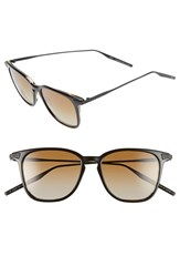 Men's Salt 'Ridgeway' 51Mm Polarized Sunglasses Black Tortoise Brown
