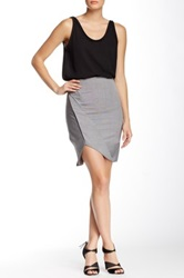 L.A.M.B. Flip Up Pencil Skirt Gray