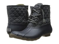 Sperry Saltwater Quilted Nylon Navy Graphite Women's Lace Up Boots Black