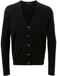 Pringle Of Scotland V Neck Cardigan Black
