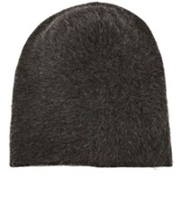Barbisio Men's Slouch Knit Angora Blend Hat Grey