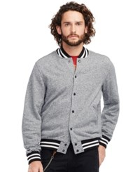 Denim And Supply Ralph Lauren French Terry Baseball Jacket Grey
