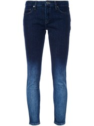 Victoria Beckham Degrade Skinny Fit Jeans Blue