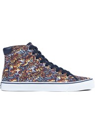 Kenzo Vulcano Flying Tiger Canvas Sneakers