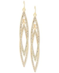 Inc International Concepts Double Navette Pave Crystal Earrings Only At Macy's Gold