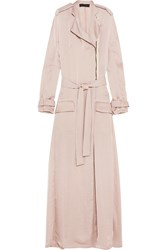 Haider Ackermann Hammered Satin Trench Coat Nude