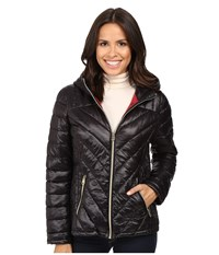 Jessica Simpson Hooded Packable Jacket Black Women's Coat
