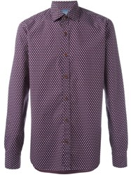 Barba Printed Shirt Pink And Purple
