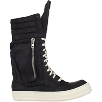 Rick Owens Cargobasket Sneaker Boots Wht.Andblk.