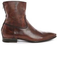 Pete Sorensen Mac Gill Brown Patent Leather High Top Boots
