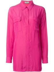Lanvin Oversized Shirt Pink And Purple