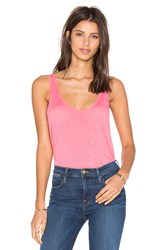 Velvet By Graham And Spencer Tila Lux Slub Tank Coral