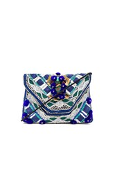 Antik Batik Margot Clutch Blue