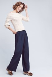 Anthropologie Suki Wide Legs Navy