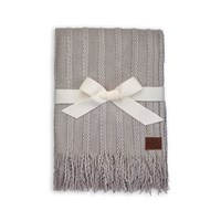 Ugg Fine Cable Knit Throw Seal