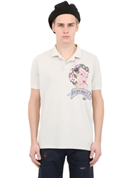 Bob Strollers Tattoo Hand Painted Cotton Pique Polo Stone