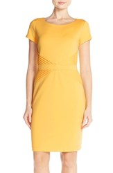 Women's Ellen Tracy Pleat Ponte Sheath Dress Sun