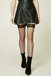 Forever 21 Fishnet Over The Knee Socks Black