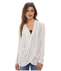 Gabriella Rocha Cowl Neck Long Sleeve Top Silver Women's Clothing