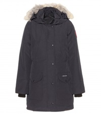 Canada Goose Trillium Down Jacket With Fur Trimmed Hood Blue