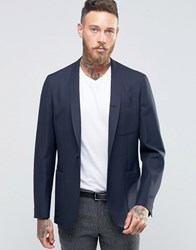 Hart Hollywood By Nick Slim Unlined Blazer With Shawl Collar Navy