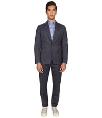 Vivienne Westwood Mourning Stripe James Suit Navy Stripe Men's Suits Sets