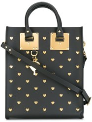 Sophie Hulme Gold Tone Studded Shopping Bag Black