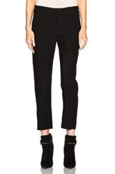 Ann Demeulemeester Cropped Trousers In Black