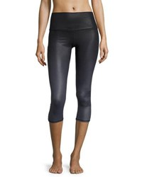 Alo Yoga High Waist Airbrush Capri Leggings Gradient Black
