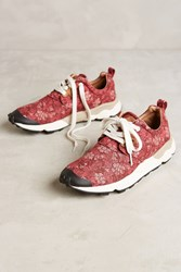 Anthropologie Flower Mountain Red Jasmine Sneakers