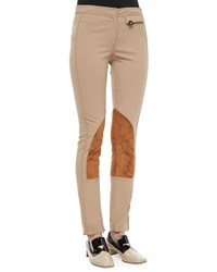 Derek Lam Stretch Twill Jodhpur Leggings Size 44 8 Us Brown Camel