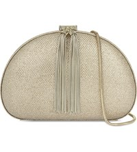 Ted Baker Dovey Glitter Finish Clutch Gold Colour